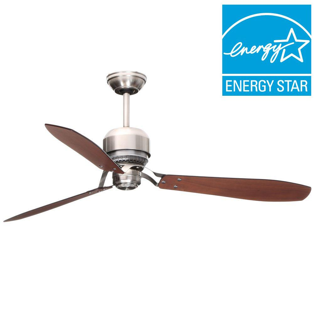 Tribeca 60 in. Indoor Brushed Nickel Ceiling Fan with 4-Speed Wall