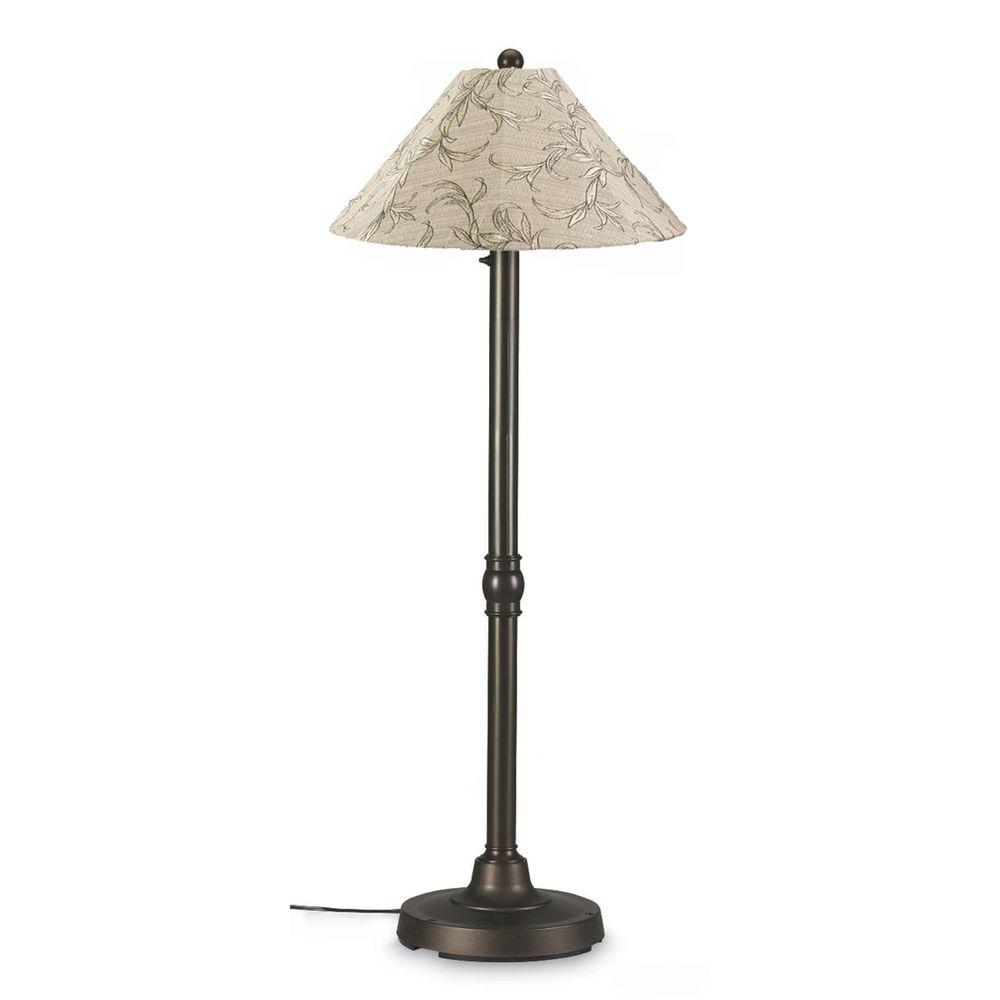 San Juan 60 in. Outdoor Bronze Floor Lamp with Bessemer Shade
