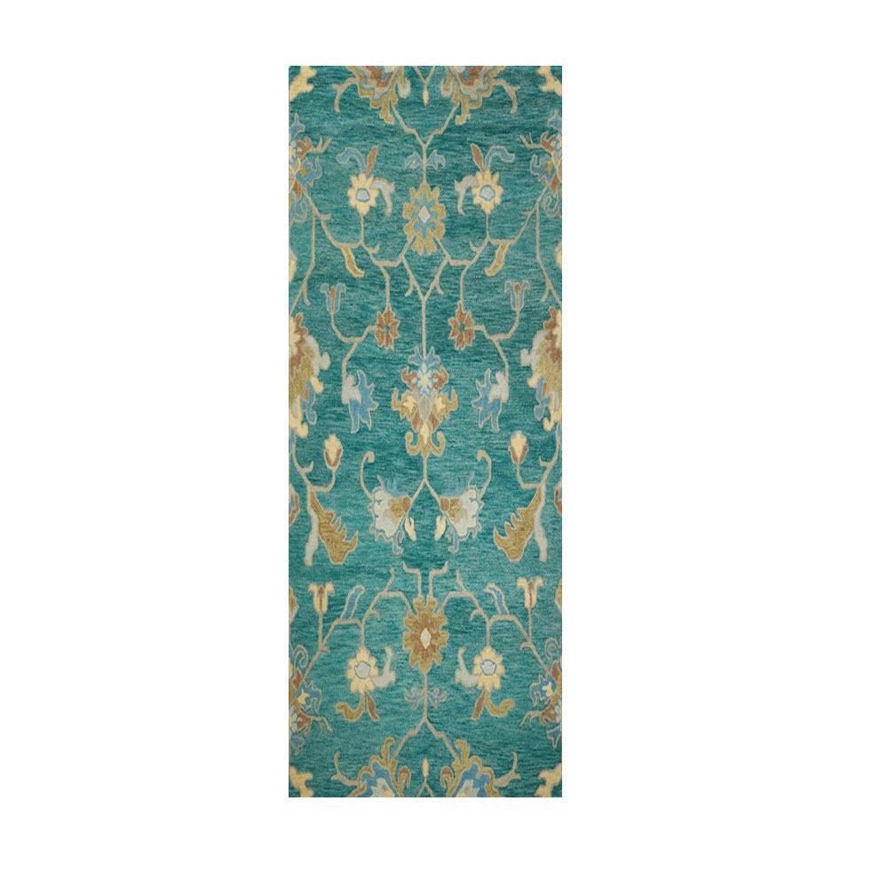home decorators collection montpellier teal 2 ft 3 in x