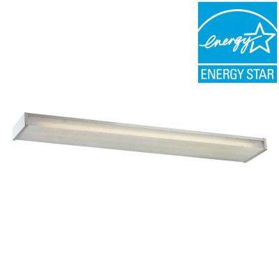 4 ft. 3-Light White Fluorescent Wraparound Surface Mount Fixture