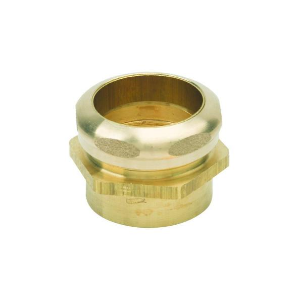 1-1/2 in. O.D. Compression x 1-1/2 in. I.D. Female Sweat Brass Waste Connector with Tube Stop in Rough Finish
