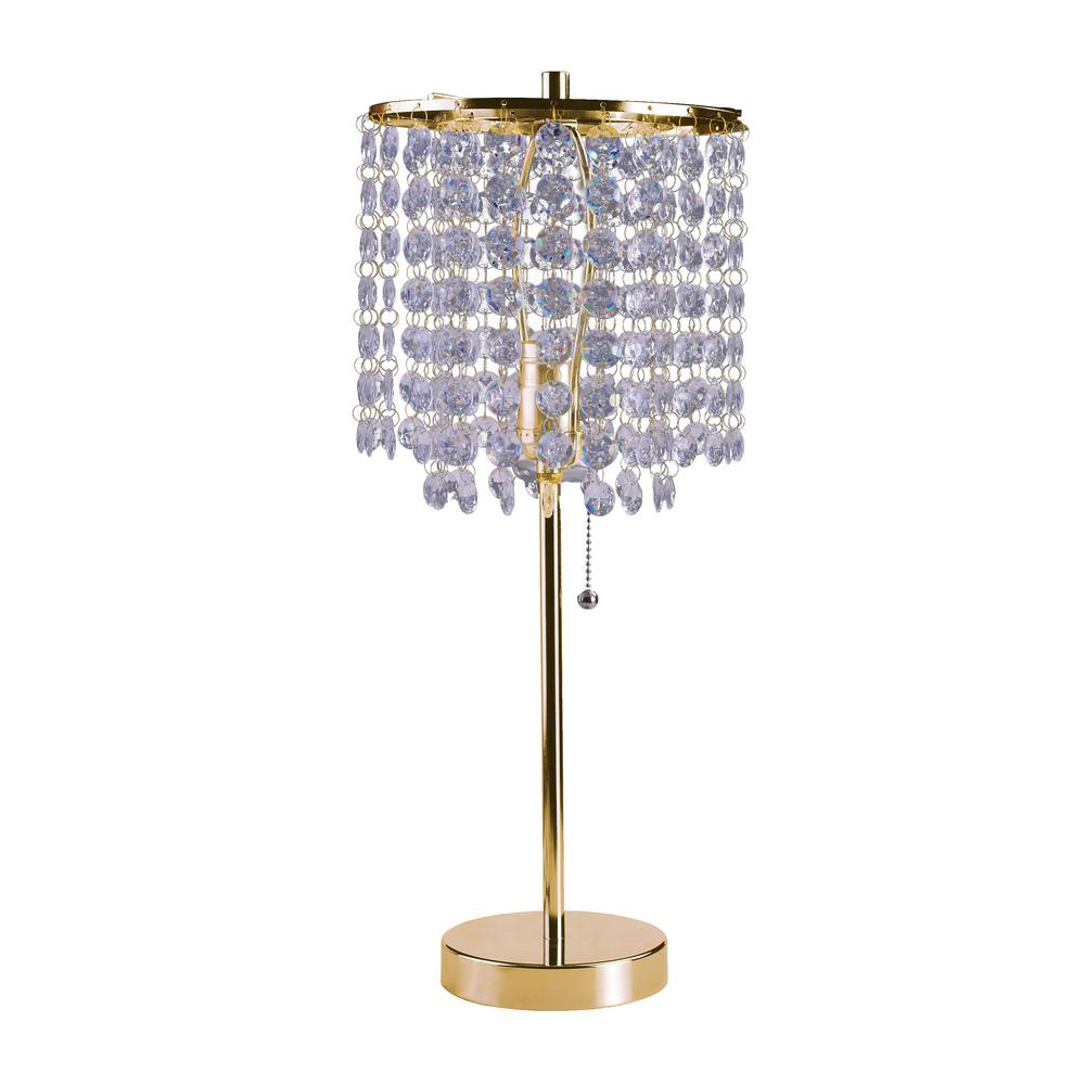 19 in. Gold Chrome Table Lamp