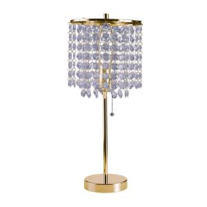 Gold Chrome Table Lamp S 8315G   The Home Depot