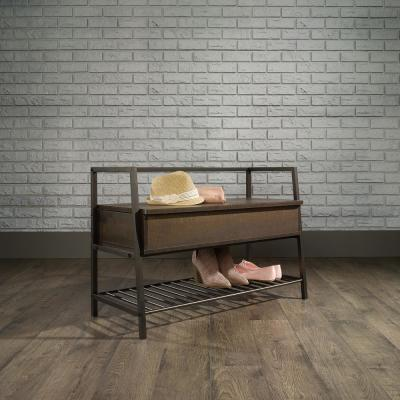 North Avenue Smoked Oak Storage Bench