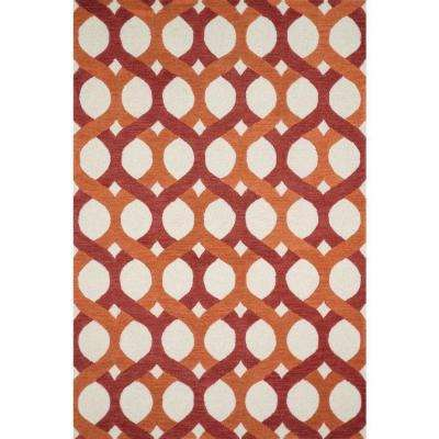 Weston Lifestyle Collection Red/Orange 5 ft. x 7 ft. 6 in. Area Rug