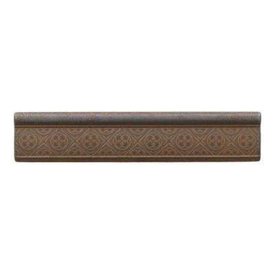 Castle Metals Wrought Iron 2-1/2 in. x 12 in. Metal Clover Ogee Wall Tile