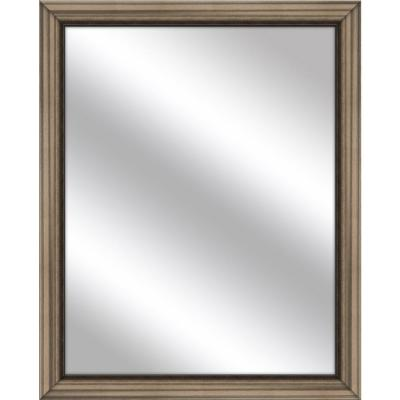 Medium Rectangle Brown Art Deco Mirror (32.75 in. H x 26.75 in. W)