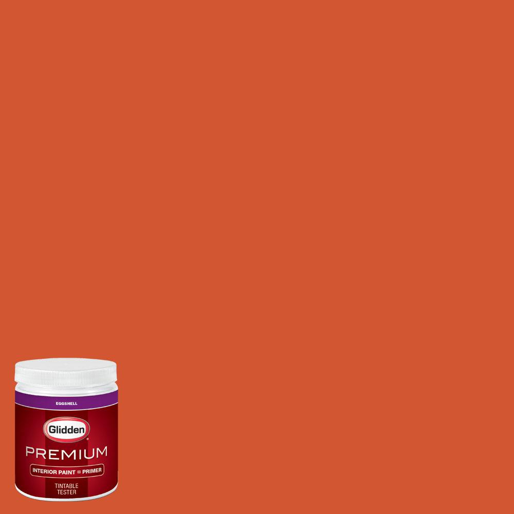 Glidden Premium 8 oz. #wnba-131B Connecticut Sun Orange Eggshell Interior Paint with Primer
