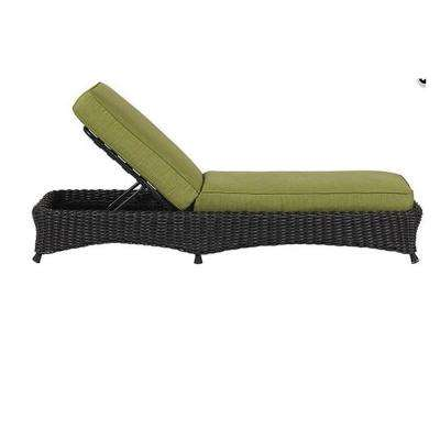 Lake Adela Charcoal Patio Chaise Lounge with Cilantro Cushions