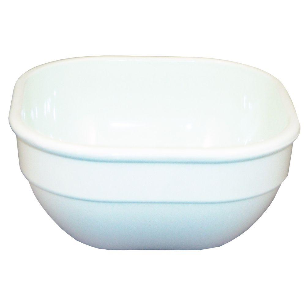 Carlisle 4 in. Square 10 oz. Polycarbonate Commercial Square Bowl in White (  sc 1 st  The Home Depot & Carlisle 4 in. Square 10 oz. Polycarbonate Commercial Square Bowl ...
