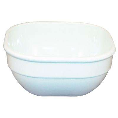 4 in. Square, 10 oz. Polycarbonate Commercial Square Bowl in White (Case of 48)
