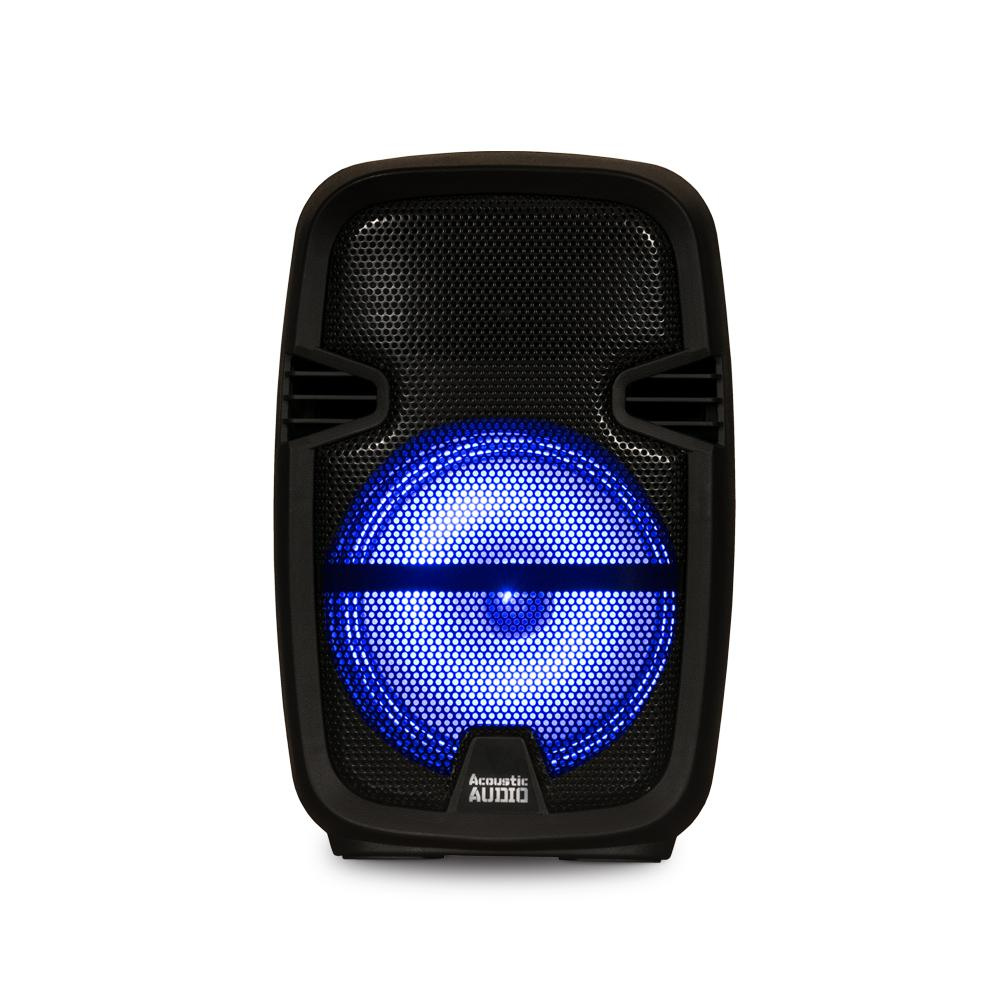 241ad70ca041cf +3. Acoustic Audio by Goldwood Battery Powered 8 in. Bluetooth LED Speaker  ...