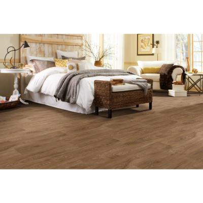 Scorched Walnut Natural Wood Residential Vinyl Sheet Flooring 12ft. Wide x Cut to Length