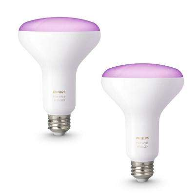 Hue White and Color Ambiance BR30 65-Watt Equivalent Dimmable LED Smart Flood Light (2-Pack)