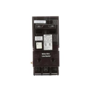 N 20 Amp Double Pole Type QPF2 GFCI Circuit Breaker by N