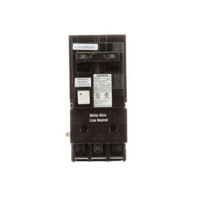20 Amp Double Pole Type QPF2 GFCI Circuit Breaker