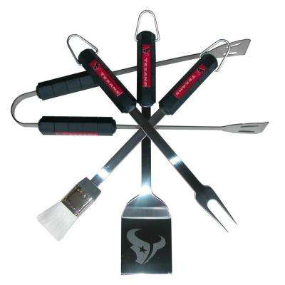 NFL Houston Texans 4-Piece Grill Tool Set