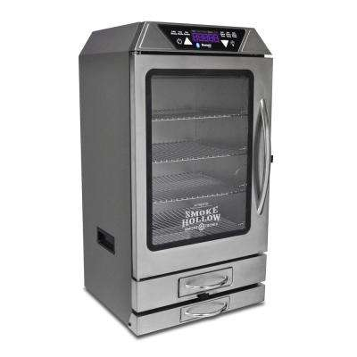 Smoke-Tronix 40 in. Digital Electric Smoker with Bluetooth, in Stainless Steel