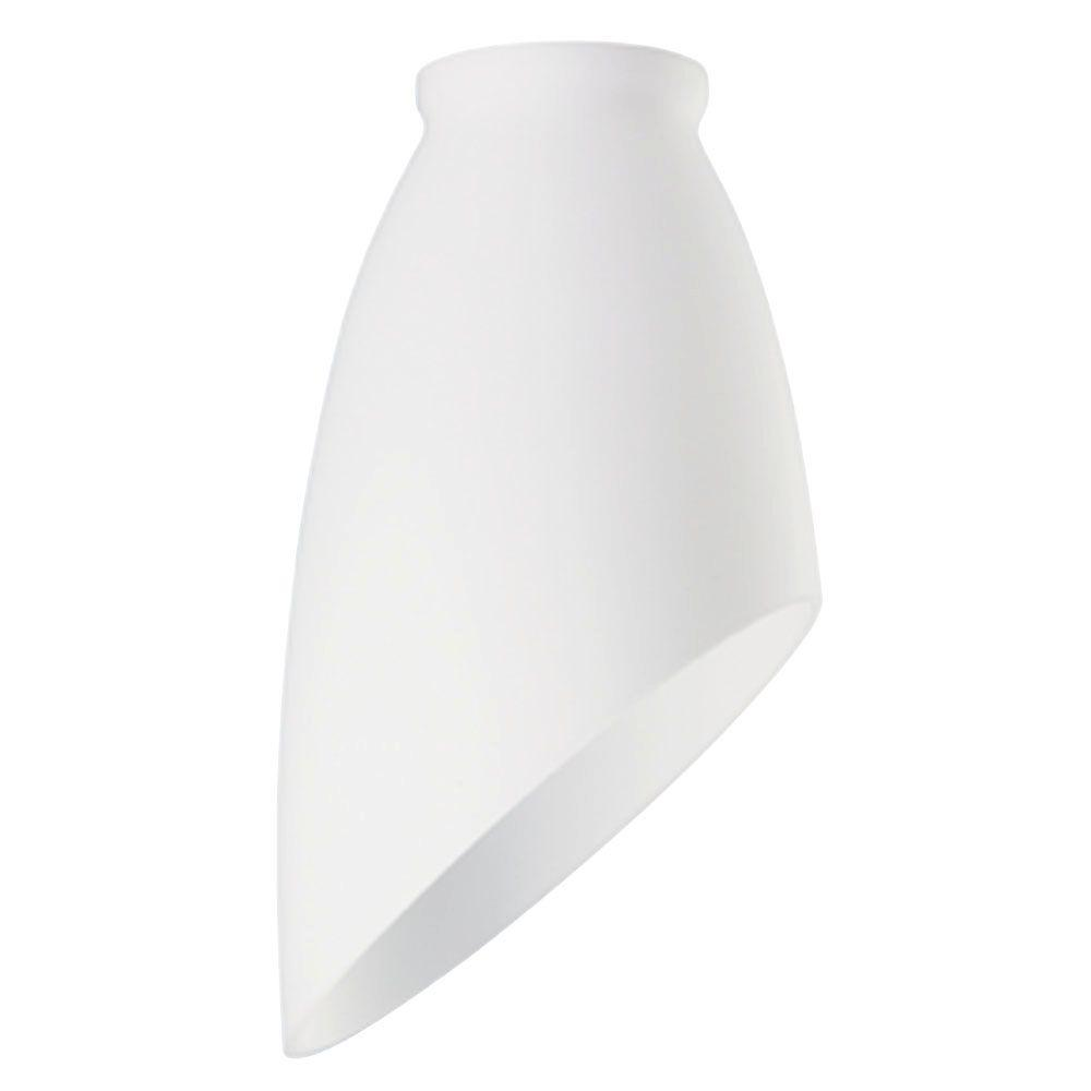 Westinghouse 6-3/4 in. Handblown White Angled Design Shade with 2-1/4 in. Fitter and 3-3/4 in. Width