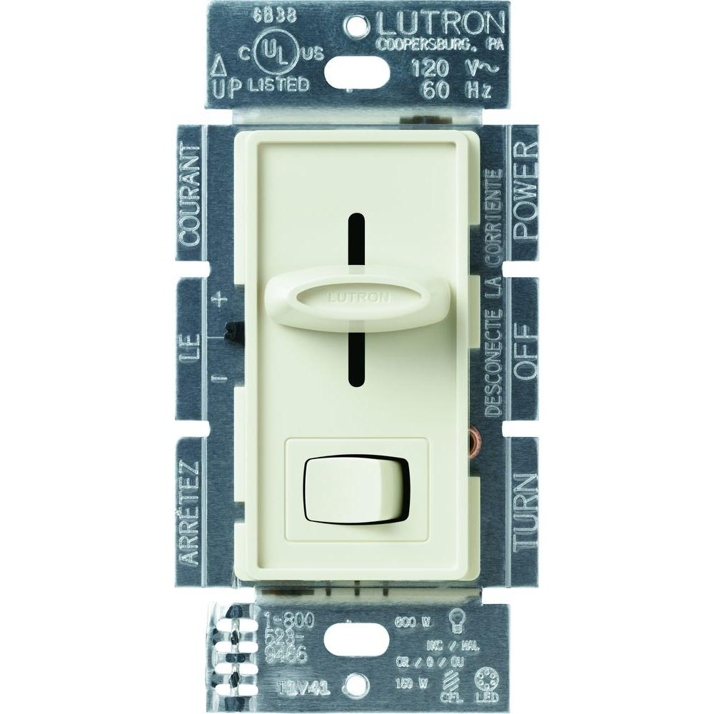 Lutron Skylark 150-Watt Single-Pole/3-Way CFL-LED Dimmer - Almond