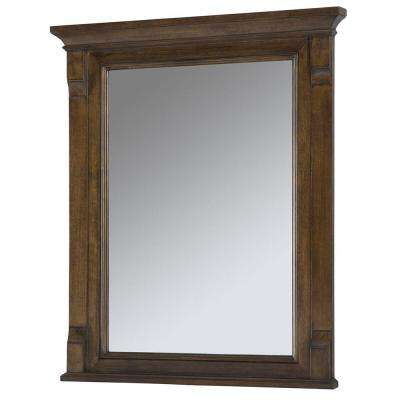 Creedmoor 26 in. W x 31 in. L Single Wall Hung Mirror in Walnut