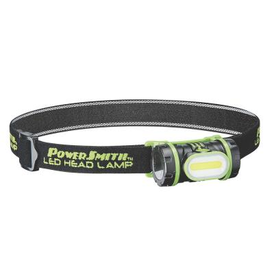 150 Lumens LED Weatherproof Rotatable Head Lamp with Adjustable Band, High/Low/Flashing White Light and Batteries