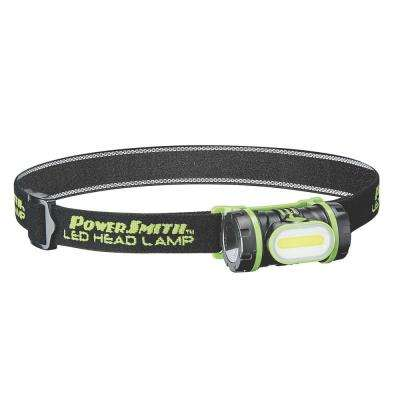 150 Lumens Flood LED Head Lamp with 3-Light Modes, Rotating Head, Adjustable Strap, Batteries Included