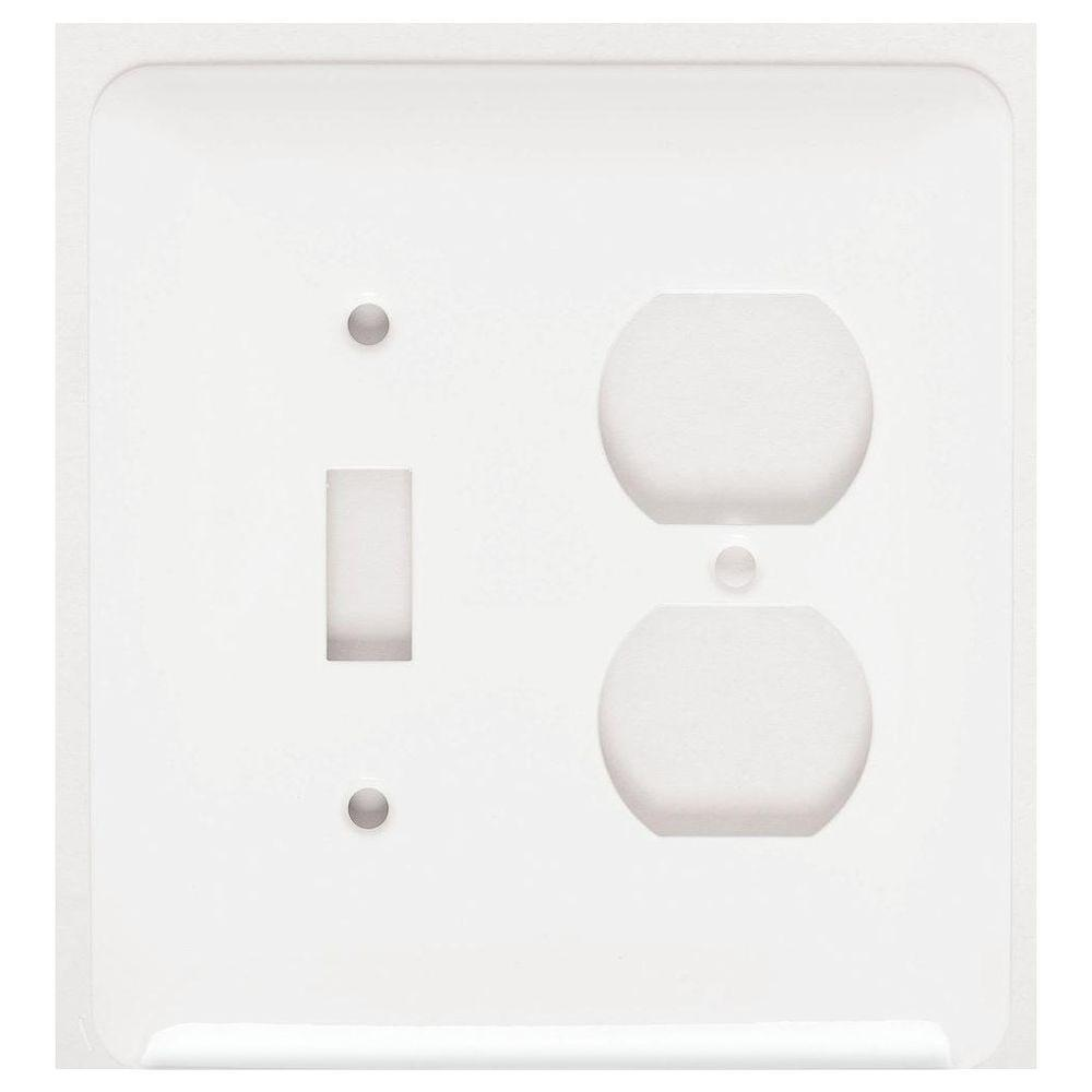mulberry princess 2 gang 1 toggle 1 duplex wall plate white76532 the home depot