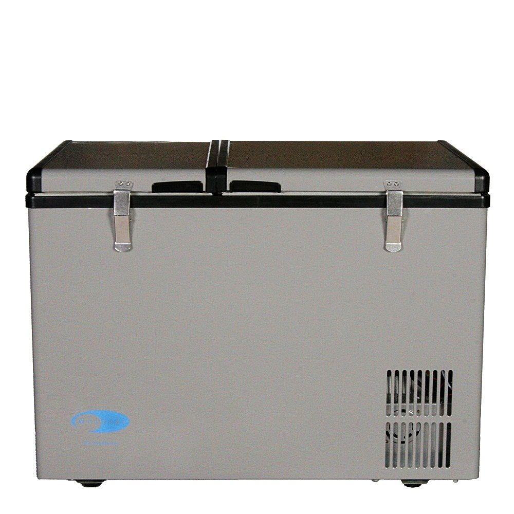 Whynter 2 cu. ft. 62 Qt. Dual Zone Portable Freezer in Gray