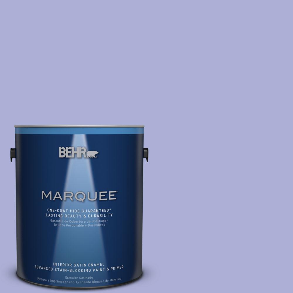 1 gal. #MQ4-30 Lavender Wash One-Coat Hide Satin Enamel Interior Paint