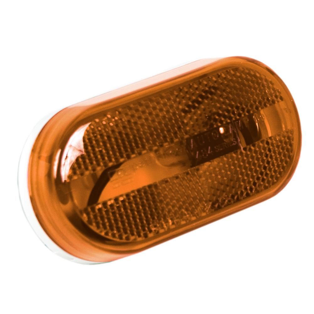 4-1/8 in. Reflective Clearance/Side Marker, Amber