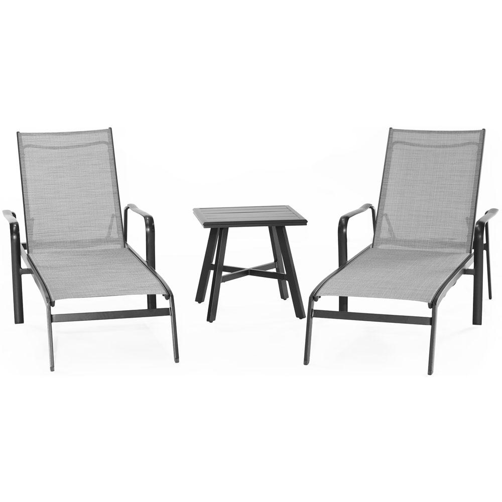 Cool Hanover Foxhill 3 Piece All Weather Commercial Rust Free Aluminum Outdoor Chaise Lounge Chair Set With Sunbrella Sling And Table Ncnpc Chair Design For Home Ncnpcorg