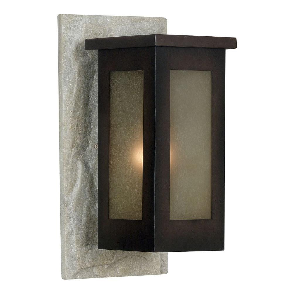 Kenroy Home Icefield 1-Light 16 in. Cream Slate Wall Lantern-DISCONTINUED