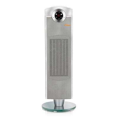 27 in. 1500-Watt Ceramic Tower Heater - Grey