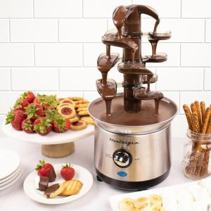 Nostalgia Cascading Fondue Fountain In Stainless Steel Cff1000 The