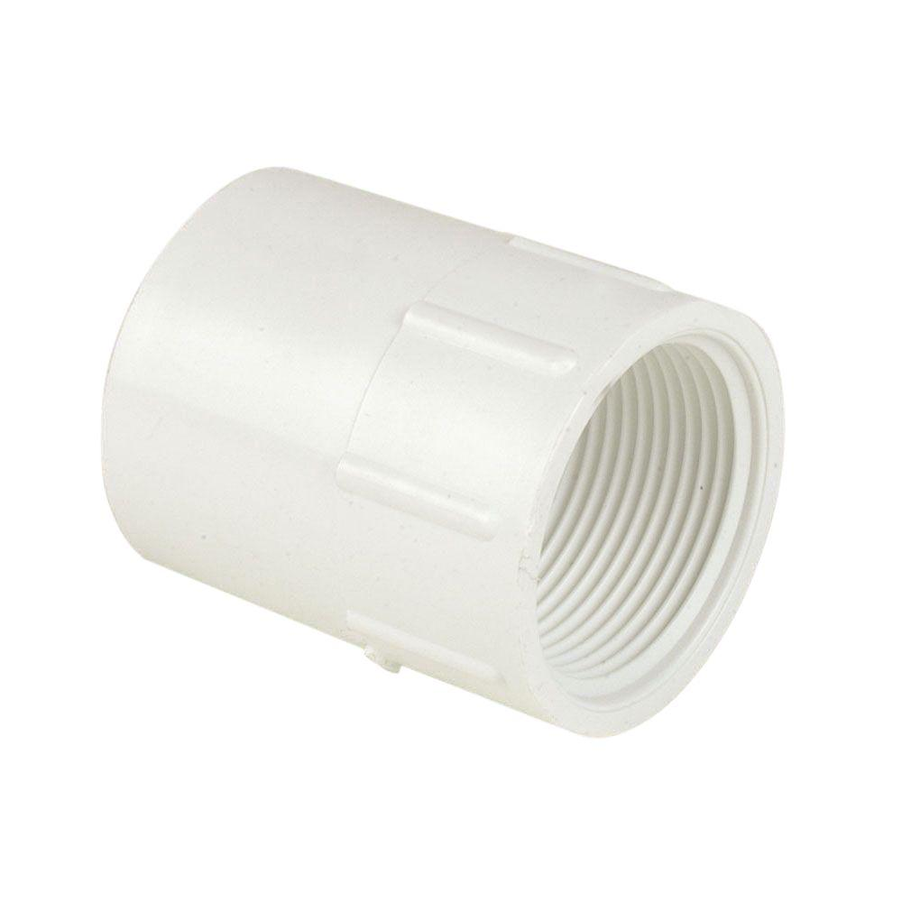 Adapter Spears 435 Series PVC Pipe Fitting 1-1//4 Socket x 1 NPT Female White Schedule 40