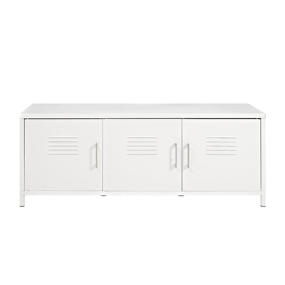 Walker edison furniture company locker style 48 in white for Furniture companies