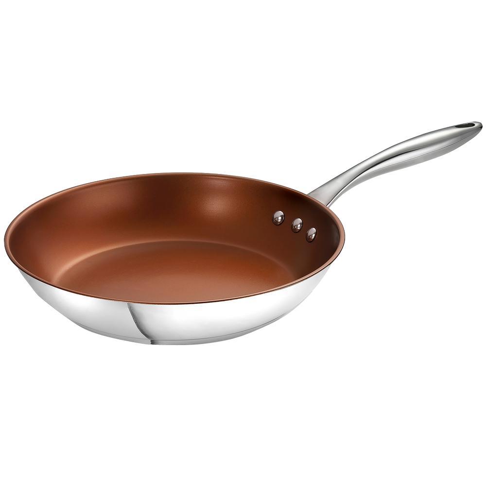 Earth Pan ETERNA 12 in. Stainless Steel Nonstick Frying Pan in Bronze