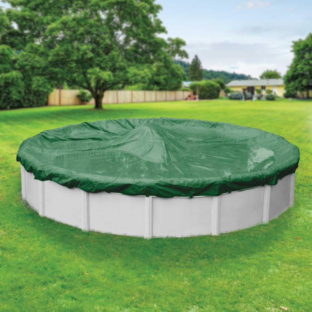 Robelle Titan 24 Ft Pool Size Round Green Solid Winter Above Ground Pool Cover 4824 4 The
