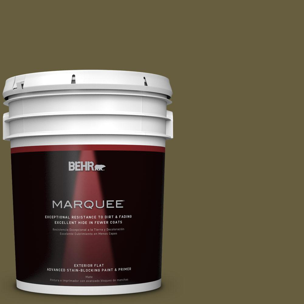 5-gal. #ICC-88 Classic Olive Flat Exterior Paint