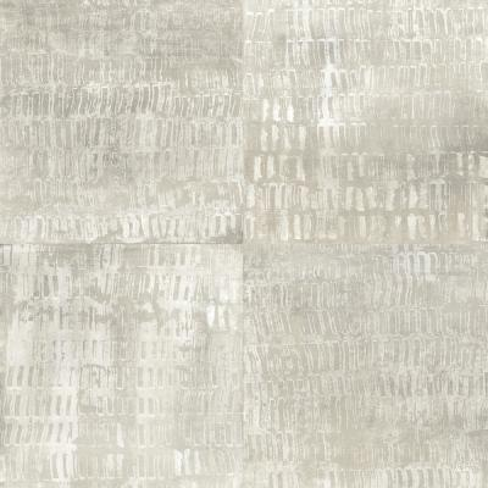 56.4  sq. ft. Conundrum Silver Faux Metal Wallpaper