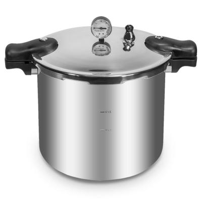 22 qt. Aluminum Pressure Cooker With Built-in Canner Pressure Dial Gauge Compatible on Gas or Electric Stove