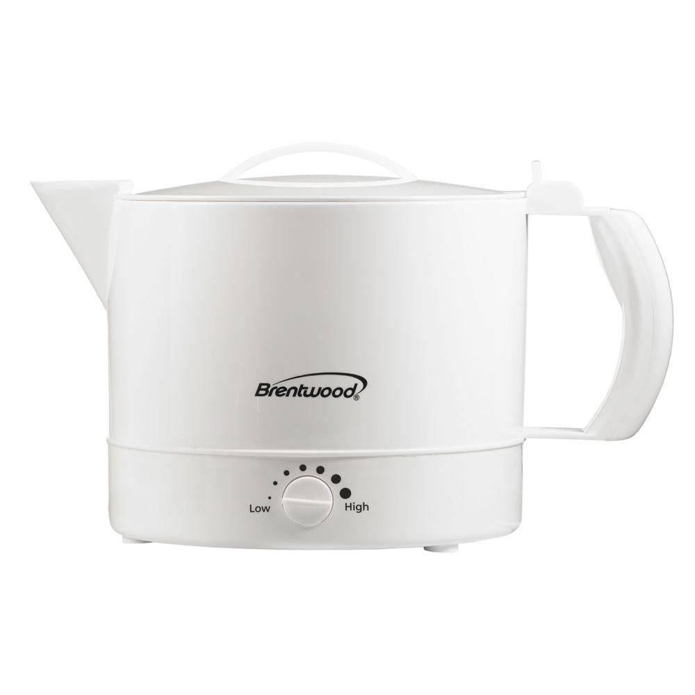 brentwood 4 cup electric kettle kt32w the home depot. Black Bedroom Furniture Sets. Home Design Ideas