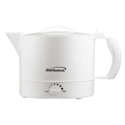 4-Cup White Electric Kettle with Temperature Control