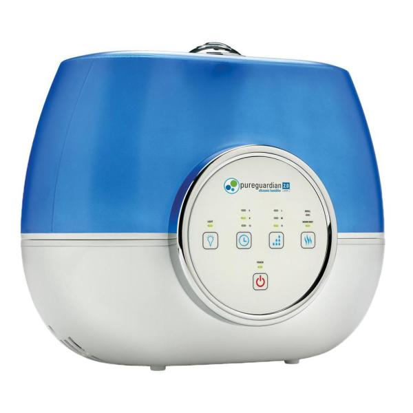 Pureguardian 2 Gal 120 Hour Ultrasonic Warm And Cool Mist Humidifier With Aromatherapy H4810ar The Home Depot