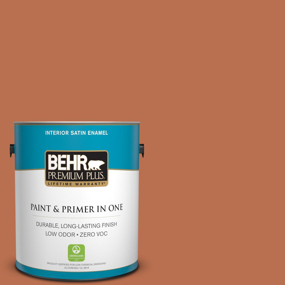 1-gal. #230D-6 Iced Tea Zero VOC Satin Enamel Interior Paint