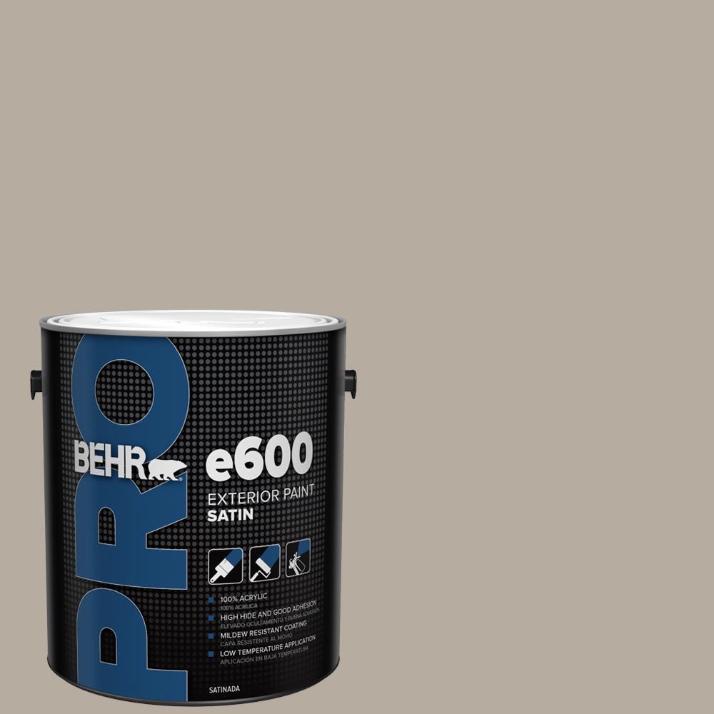 1 gal. #PPU18-13 Perfect Taupe Satin Enamel Exterior Paint