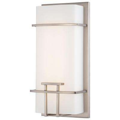 20 Watt Brushed Nickel Integrated LED Wall Sconce