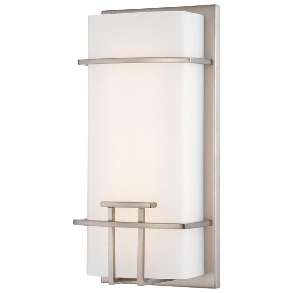 20-Watt Brushed Nickel Integrated LED Wall Sconce