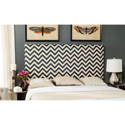 Ziggy Navy and White King Headboard